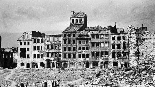Pohled na varšavskou ulici během 2. světové války - Sputnik Česká republika