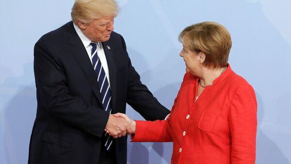 Merkelová a Trump - Sputnik Česká republika