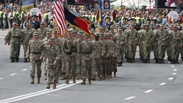 Vojenská přehlídka v Kyjevě u příležitosti Dne nezávislosti Ukrajiny za účasti NATO - Sputnik Česká republika