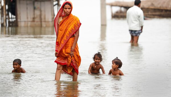 Záplavy v Indii - Sputnik Česká republika