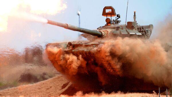 Objevilo se první foto ruského tanku T-72B3M s aktivním obranným systémem Arena-M - Sputnik Česká republika