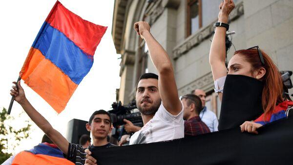 Protestné akce v Jerevanu. Archivní foto - Sputnik Česká republika