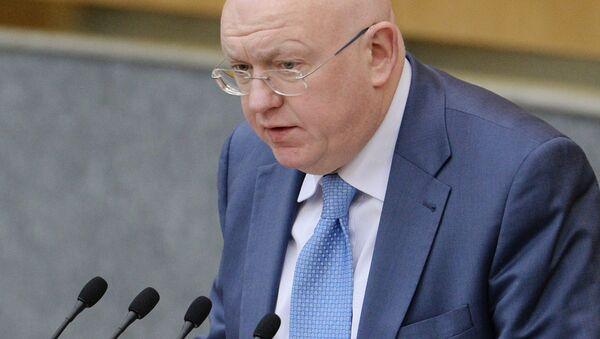 Stálý zástupce Ruska při OSN Vasilij Nebenzja - Sputnik Česká republika