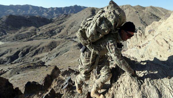 Americký voják na afghánské hranici s Pákistánem - Sputnik Česká republika