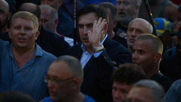 Michail Saakašvili s příznivci - Sputnik Česká republika