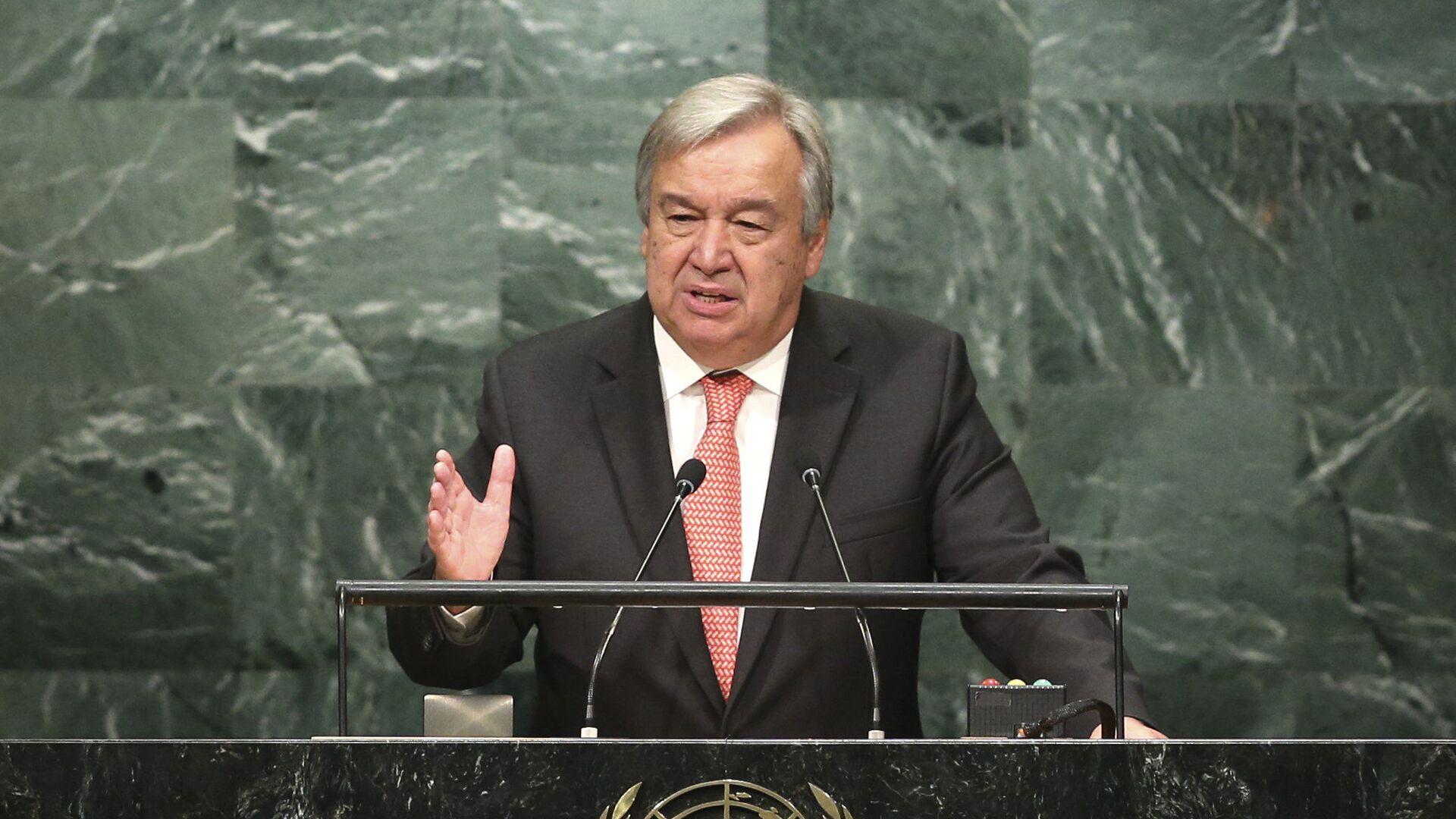Generální tajemník OSN António Guterres - Sputnik Česká republika, 1920, 21.09.2021