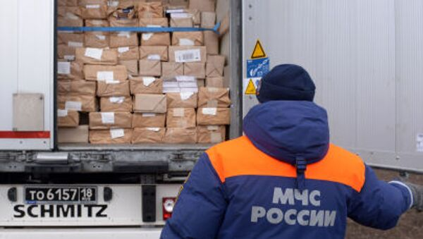 Ruská humanitární pomoc pro Donbas. Ilustrační foto - Sputnik Česká republika