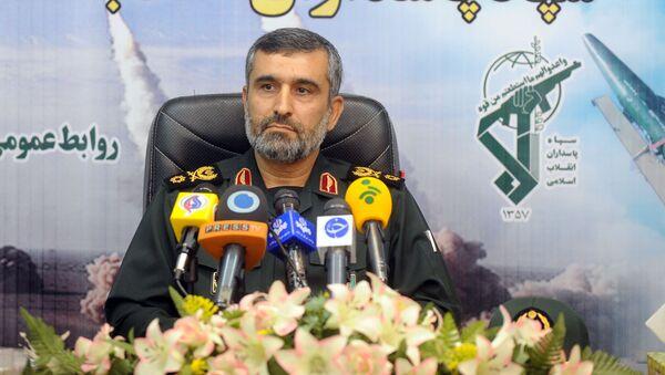 Velitel vojensko-kosmických sil Islámského revolučního gardového sboru (IRGC) Amir Ali Hajizadeh - Sputnik Česká republika