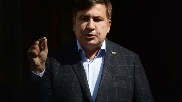 Bývalý gruzínský prezident a bývalý gubernátor Oděsské oblasti Michail Saakašvili - Sputnik Česká republika