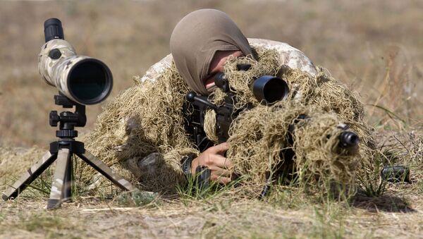 Ukrajinský odstřelovač. Ilustrační foto - Sputnik Česká republika
