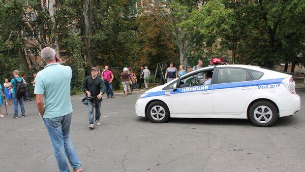 Policie na místě výbuchu v Doněcku - Sputnik Česká republika