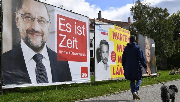Billboardy s kandidáty v Německu - Sputnik Česká republika