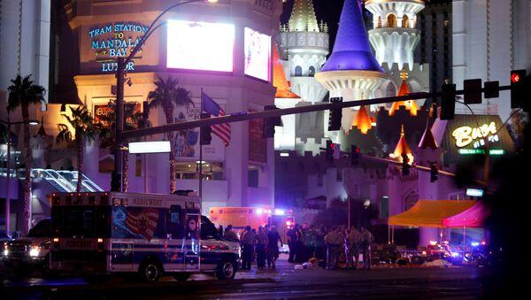 Policie na místě palby v Las Vegas - Sputnik Česká republika
