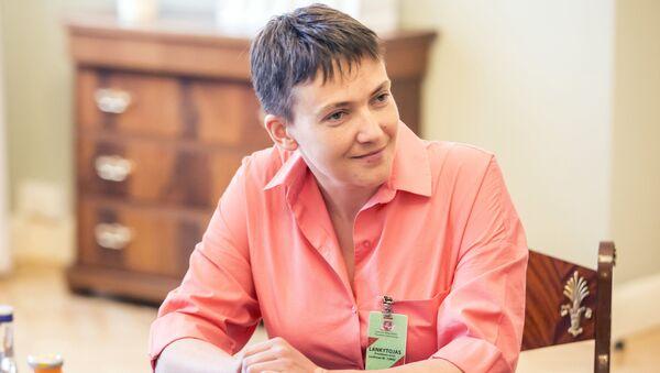 Poslankyně ukrajinské Nejvyšší rady Naděžda Savčenková - Sputnik Česká republika