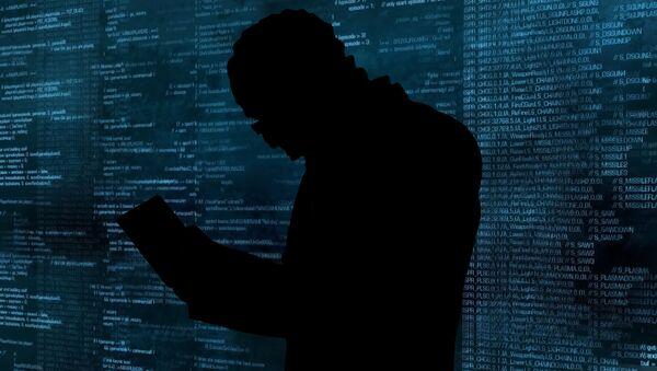 Hacker při práci (ilustrační foto) - Sputnik Česká republika