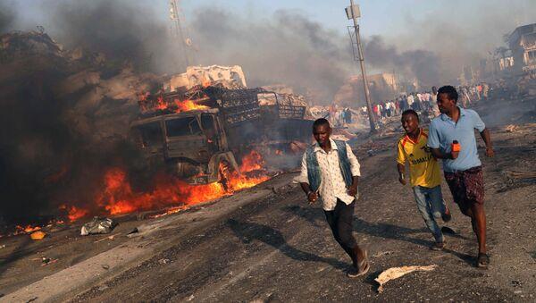 Místo výbuchu v Mogadišo, Somálsko - Sputnik Česká republika