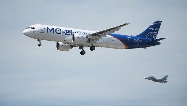 Nové ruské dopravní letadlo MS-21-300 - Sputnik Česká republika