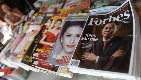 Magazín Forbes na pultě. Ilustrační foto - Sputnik Česká republika