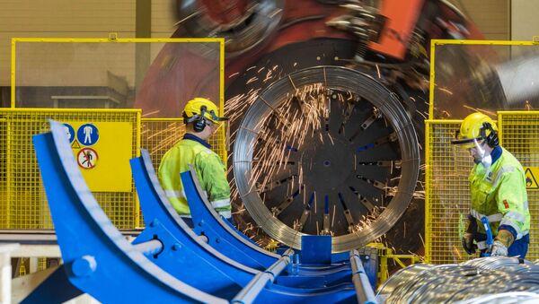 Příprava drátěných klecí pro plynovod Severní proud 2 - Sputnik Česká republika