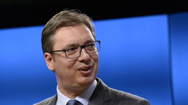 Srbský prezident Alexandar Vučič - Sputnik Česká republika