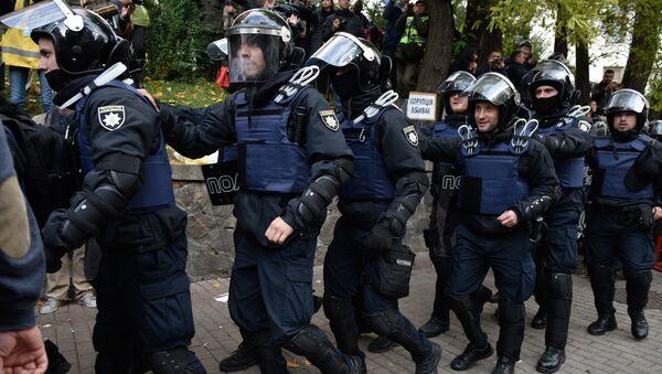 Policie u budovy Rady v Kyjevu - Sputnik Česká republika