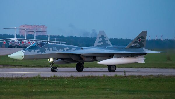 Stíhací letoun Su-57 - Sputnik Česká republika