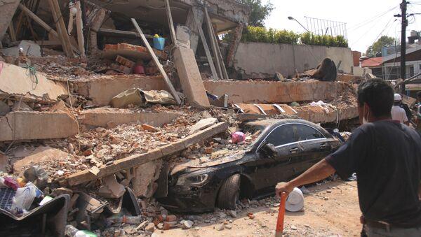Následky zemětřesení v Mexiku - Sputnik Česká republika