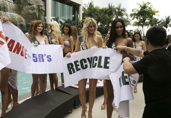 Fotografická schůzka uchazeček o titul Miss Earth - Sputnik Česká republika