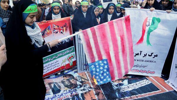 Protiamerické akce v  Íránu - Sputnik Česká republika