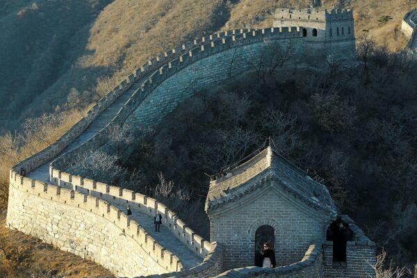 Melania Trumpová během návštěvy Velké čínské zdi. - Sputnik Česká republika