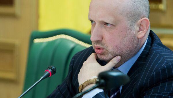 Předseda Národní rady bezpečnosti a obrany Ukrajiny Olexandr Turčynov - Sputnik Česká republika