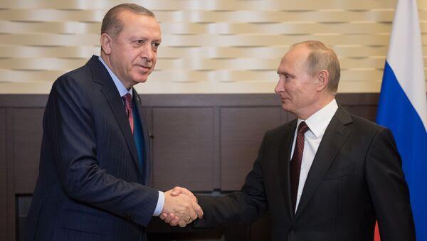 Recep Erdogan a Vladimir Putin - Sputnik Česká republika