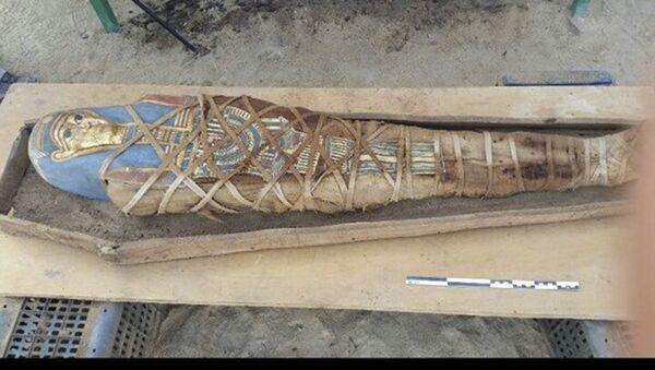 Mumie nalezená ruskými archeology ve Fajjúmu - Sputnik Česká republika
