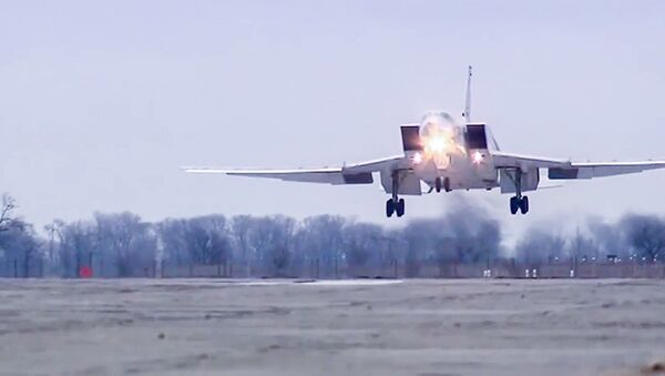 Rosyjski bombowiec dalekiego zasięgu Tu-22 M3. - Sputnik Česká republika
