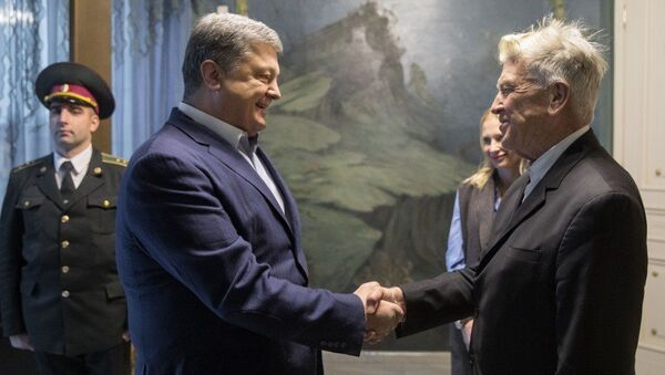 Petro Porošenko a David Lynch - Sputnik Česká republika