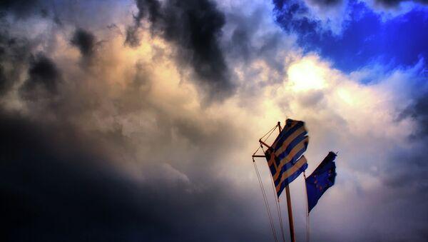 Vlajky EU a Řecka - Sputnik Česká republika