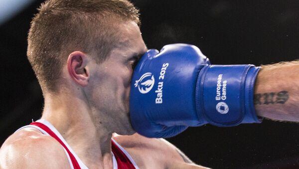 Boxerský zápas na 1. Evropských hrách v Baku (ilustrační foto) - Sputnik Česká republika