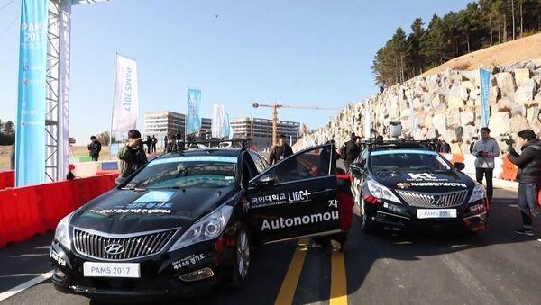 Bezpilotní stroje proti lidem: závody v Jižní Koreji - Sputnik Česká republika