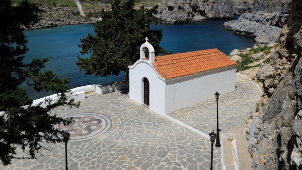 Kaple v zálivu sv. Pavla na řeckém ostrově Rhodos - Sputnik Česká republika