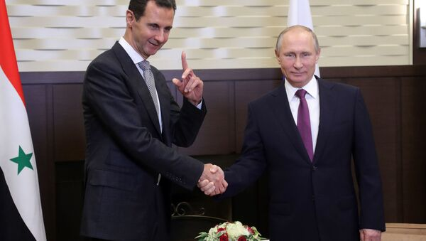 Vladimir Putin se setkal v Soči se svým syrským kolegou Bašárem Asadem - Sputnik Česká republika