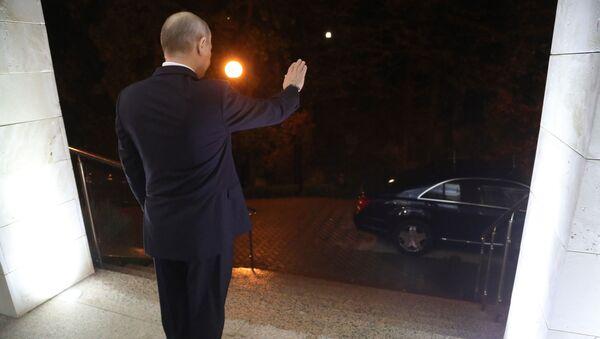 Президент России Владимир Путин после встречи с президентом Сирии Башаром Асадом - Sputnik Česká republika