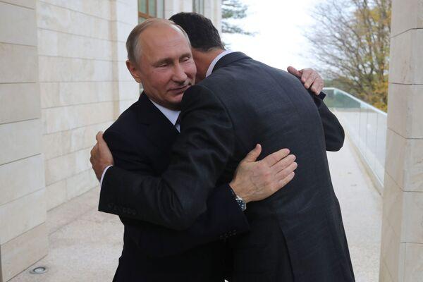 Schůzka Putina a Asada - Sputnik Česká republika