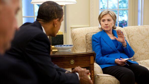 Barack Obama a Hillary Clintonová. Archivní foto - Sputnik Česká republika
