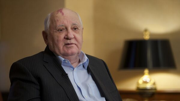 Экс-президент СССР Михаил Горбачев в резиденции своего фонда в Москве - Sputnik Česká republika