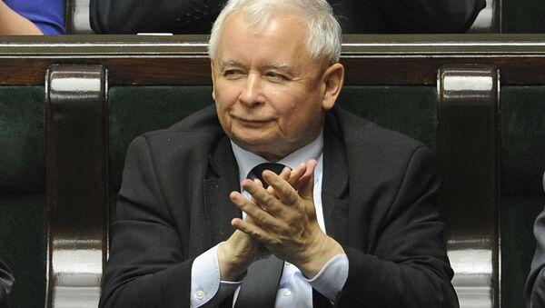 Lídr v Polsku vládnoucí strany Právo a spravedlnost Jaroslaw Kaczyński - Sputnik Česká republika