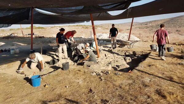 Místo objevení starobylého paláce v Izraeli - Sputnik Česká republika