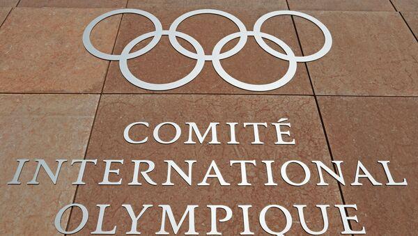 Olympijský symbol na budově MOV - Sputnik Česká republika