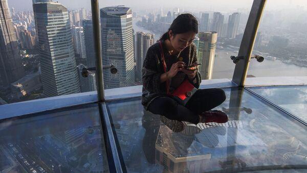 Rozhledna na mrakodrapu v Šanghaji - Sputnik Česká republika