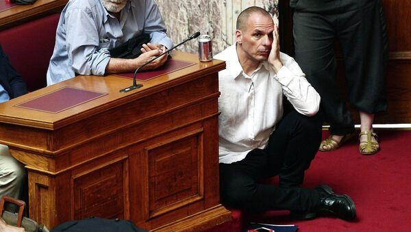 Ministr financí Řecka Janis Varufakis - Sputnik Česká republika