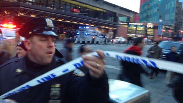 Policie na místě výbuchu v New Yorku - Sputnik Česká republika